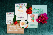Colorful spring invites