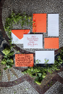 Modern spring wedding invitations