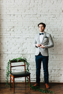 Modern groom fashion