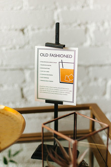 Old fashion wedding cocktails