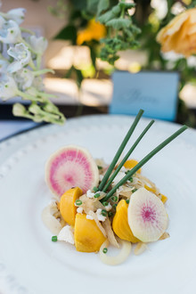 Elegant wedding food