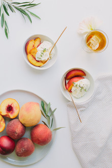 Simple summer dessert - peaches and cream