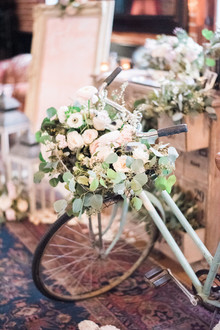flower basket on bike