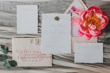 floral inspired wedding invites