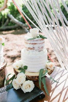 rustic white layer cake