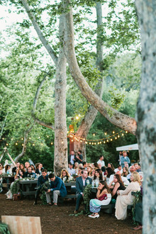 rustic summer canyon wedding