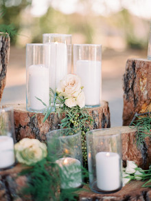 wedding candle display