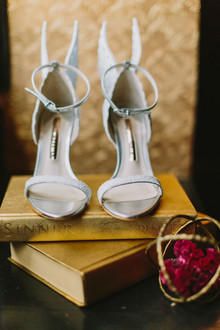 winged wedding shoes