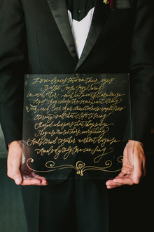 black and gold fall wedding ideas