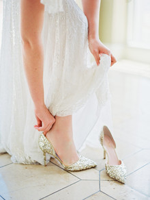 gold sparkle wedding shoes