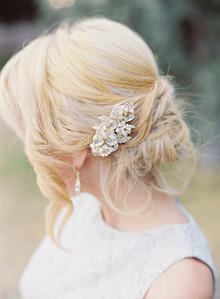 rhinestone bridal hairpiece