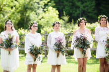 boho bridesmaides