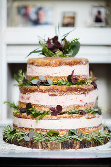 rustic layered ice cream cake