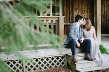 Rustic woodsy engagement photos