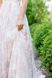Floral wedding dress