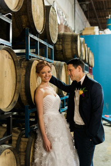 Wedding at a brewery