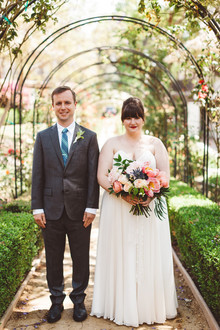 Garden wedding portraits