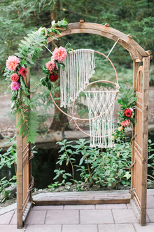 Bohemian wedding decor