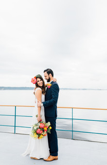 Ferry boat wedding