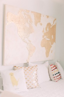 Travel themed girls nursery