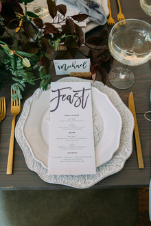 Intimate restaurant wedding inspiration