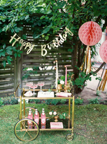 pink garden party 2nd birthday