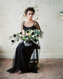 romantic black wedding ideas