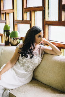 Ivory and Beau wedding dress