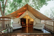 Clamping wedding tent