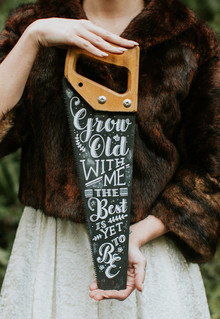 Lumberjack themed wedding