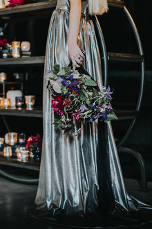 Non-traditional wedding gown