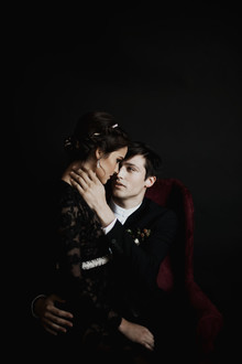 Dark wedding portraits