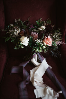 Dark plum bridal bouquet