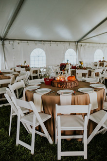 Fall wedding decor