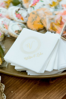 Gold foil cocktail napkins