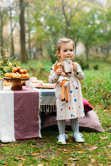 Rustic fall kids Thanksgiving party ideas