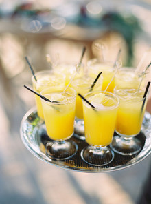 Tropical wedding cocktails