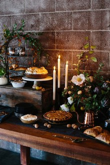 Thanksgiving dessert table