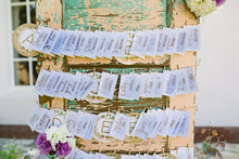 Rustic escort card display