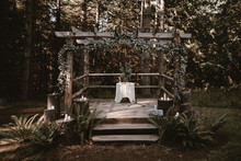 Rustic forest wedding