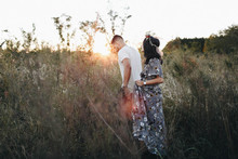 Autumn floral engagement session