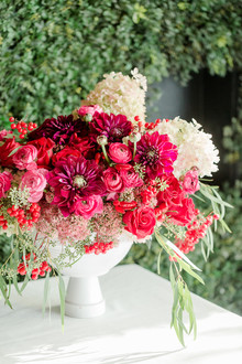 Red and pink florals