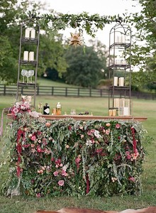 Floral wedding bar