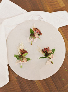 Fall wedding boutonnières
