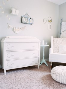 All white vintage nursery
