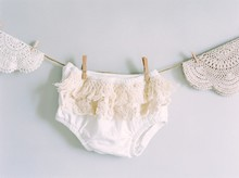 vintage ruffled bloomers