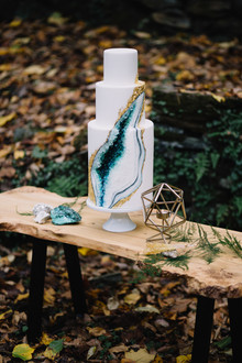 Bohemian geode wedding inspiration