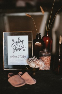 Rustic feminine baby shower