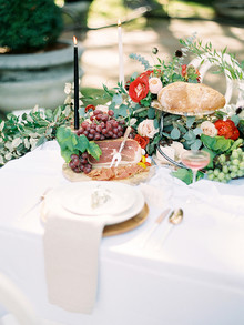 Garden wedding reception