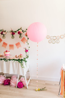 Ice cream and floral 1st birthday party